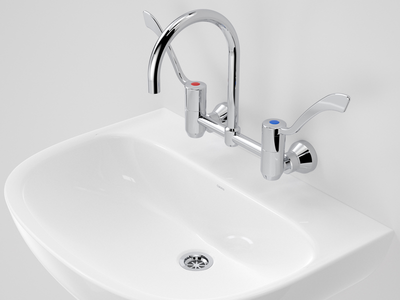 Caroma Care 600 Wall Basin for Hygiene Management
