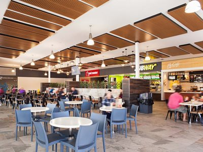 food court acoustic timber ceiling tiles