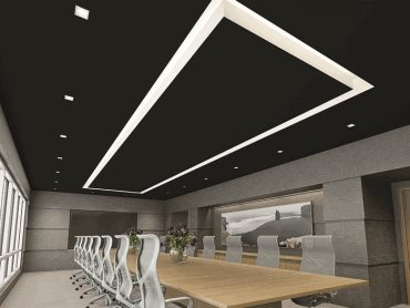 USG Boral Ensemble acoustic ceiling panels in boardroom