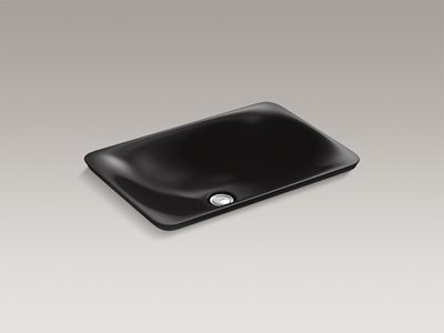 Detailed product image of modern black rectangle basin