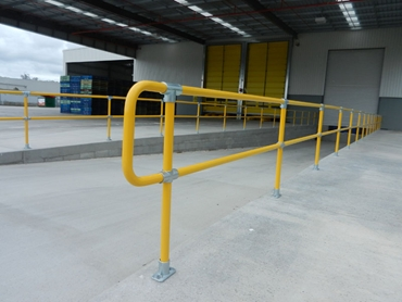 Safestop™ Pedestrian and Industrial Barriers used in commercial and industrial applications