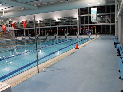 Launceston aquatic centre featuring swimming lanes