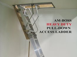 Pull-down access ladders by AM-BOSS Access Ladders