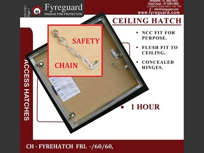 Fyreguard concealed fire rated ceiling hatch