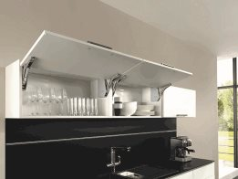 Easy to Open Cabinet Overhead Flap Fittings from Häfele Australia