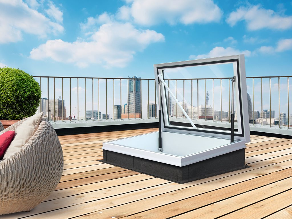 Glazed Roof Hatch: Built to withstand even the toughest weather conditions