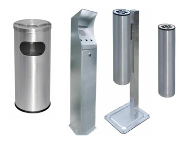 Ash Bins and Ash Trays for Public Spaces from Etcetera
