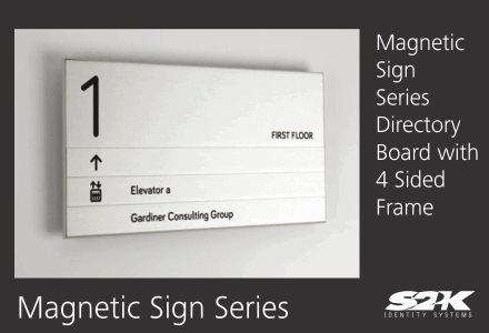 Product Showcase Magnetic Sign Series