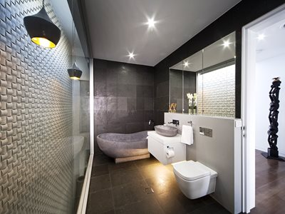 Interior View of Modern Bathroom With Hebel PowerFloor Flooring System