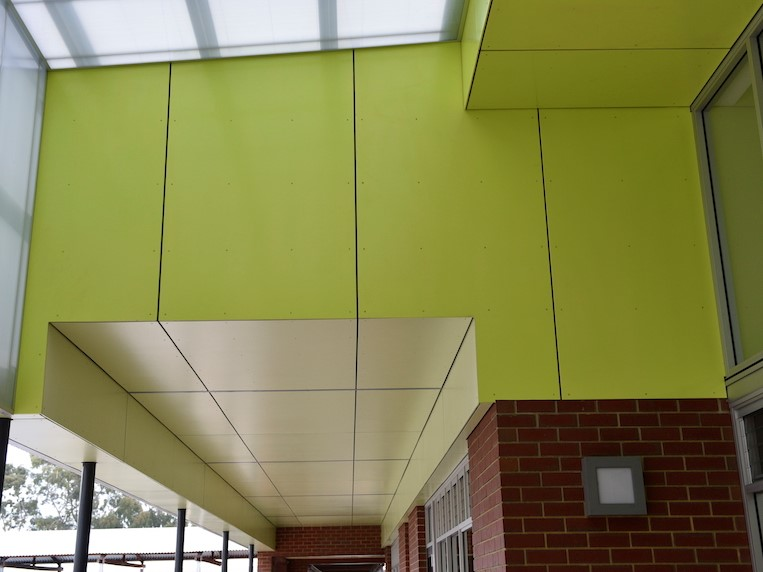 Innova Duracom Pre Coated façade system at Banksia High School – Education and government