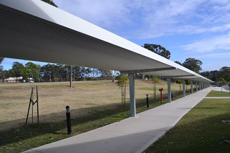 ST PAUL S COLLEGE WEST KEMPSEY Walkway from bus drop off up to Block J Hall