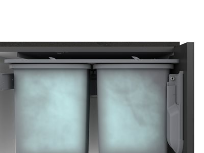 Detailed rendered product image of under counter bins