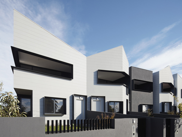 contemporary townhouse facade