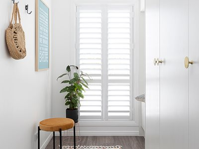 ABC Blinds modern indoor shutters residential interior