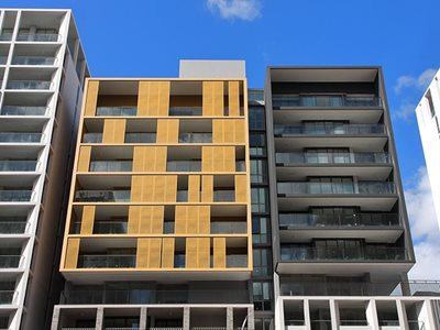 Olympic Park apartment complex with performance coating