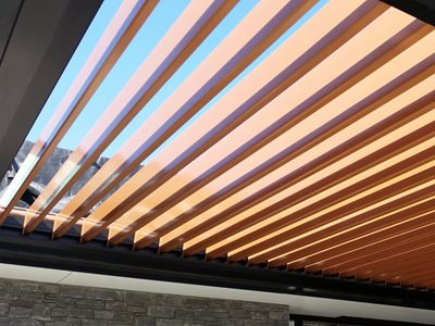 Copper and Black Super Opening Roof