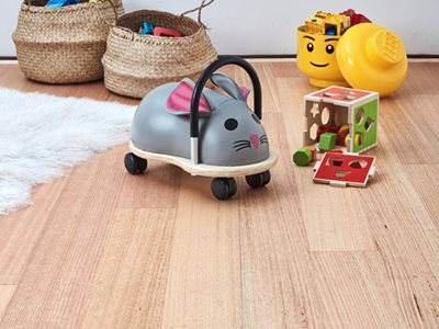 Hardwood Flooring Close Up With Toys