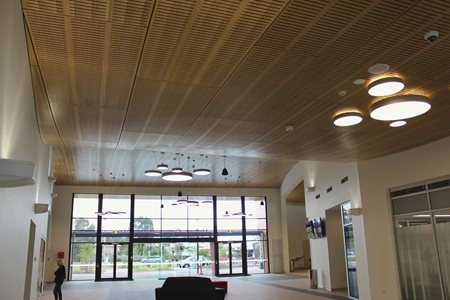 Himmel Interior Systems timber ceilings offer superior support to commercial projects