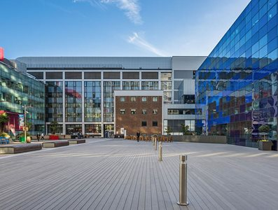 Trekker Composite decking used outside Imperial College
