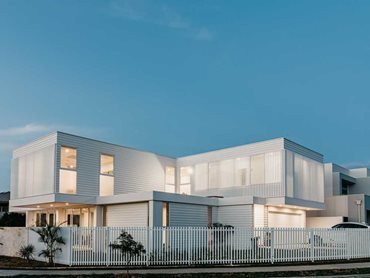 Linea 180mm weatherboards in a fresh, white colour palette