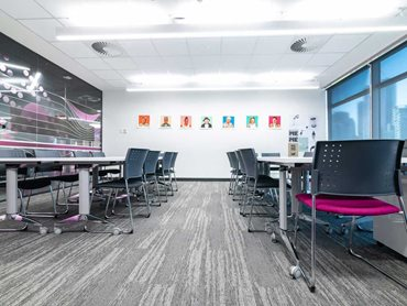 In addition to colour, acoustics also contributes to improved learning outcomes, making carpet the best flooring choice