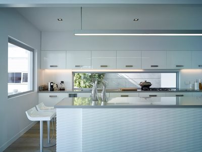 Corian kitchen tops and cladding Ian Hamilton Arhcitetcs