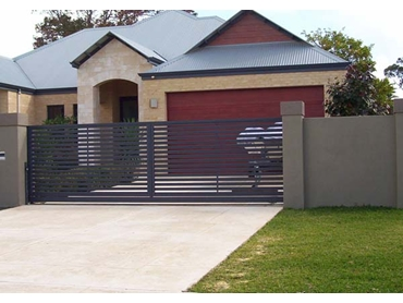 Superior-Steel-Aluminium-and-COLORBOND-Steel-Fencing-and-Gates Grey Driveway
