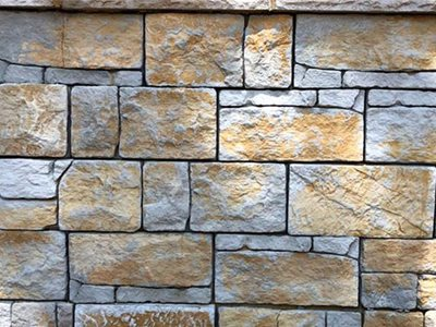 Detailed product image of architectural masonry wall
