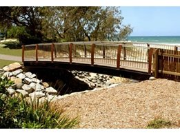 Timber and Steel Pedestrian Bridges and Boardwalks by Landmark Products