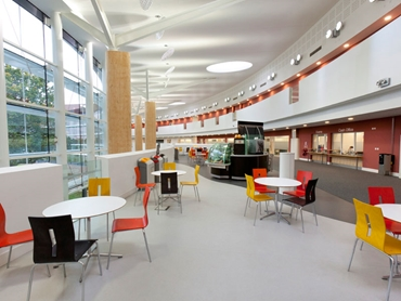 Altro slip resistant and hygienic safety flooring in hospitality interior