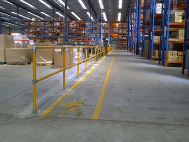 Safestop™ Pedestrian and Industrial Barriers used in warehouses for workzone applications