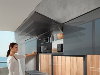 AVENTOS Over Head Cabinet Hinge Solution Kitchen Flip Up Cupboard