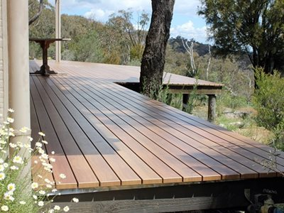 Non combustible timber decking