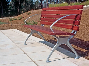 Timber and Alu Slat Seating by D O Smith Sons l jpg