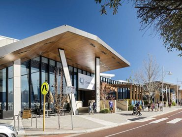 The Ocean Keys Shopping Centre in Clarkson, WA featuring Prodema cladding