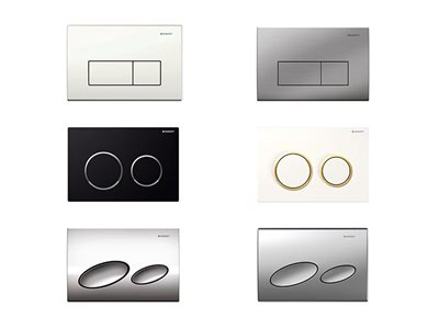 Geberit solutions for urban bathrooms flush buttons