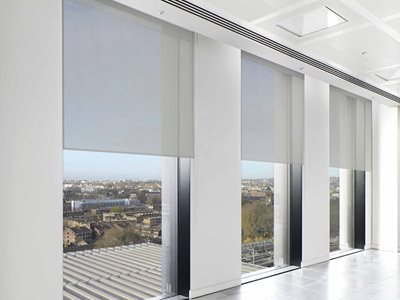 Verosol Ambience roller blind hardware in commercial office interior