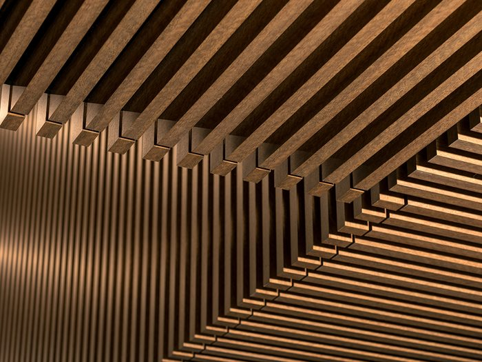 Au.diBeam: Large lightweight timber beam panels for a three-dimensional look
