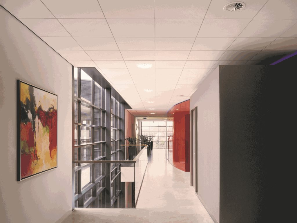 ​Armstrong acoustical mineral ceilings combine sustainability with contemporary design