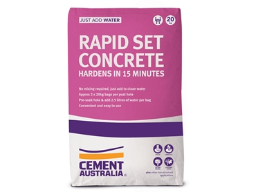 Rapid Set Concrete from Cement Australia