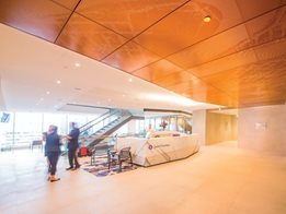 Grant Thornton Lift Lobby with USG Boral Specialty Ceiling Systems