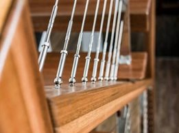 Wire balustrade systems for metal and timber posts