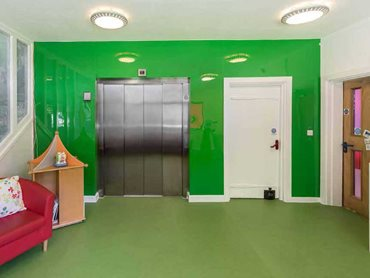 Haven House features some of the brightest and boldest Altro floor and wall products