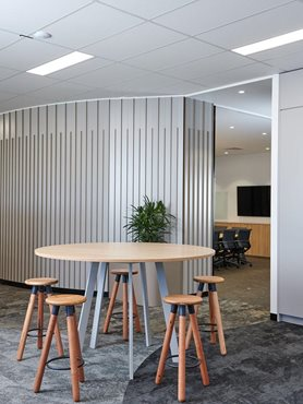 Above Left EcoSoft sustainable high performance carpet tiles in office interior
