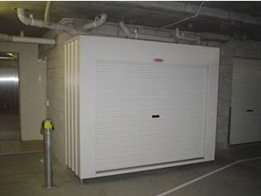 Basement car park storage solutions from Qwik-Store