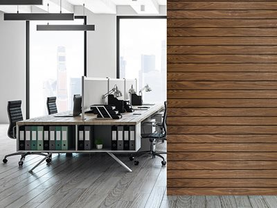 Easycraft Expression Black series decorative wall panelling workspace interior
