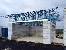 Steel roof trusses and floor joists