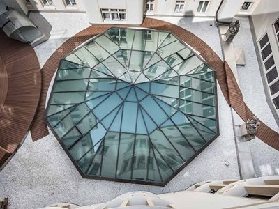 Ebsa Lamilux Architectural Ceiling Glass Aerial View
