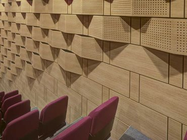 SUPACOUSTIC timber walls provided a unique hybrid technology