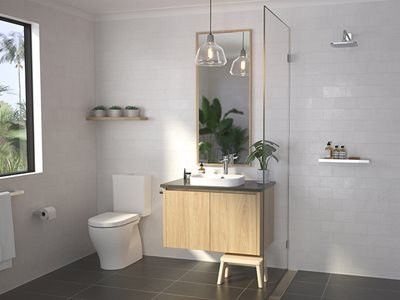 Luna Chrome Residential Bathroom Interior
